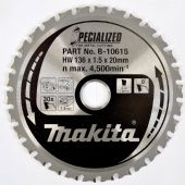 Makita 136x20mm TCT Saw Blade for Mild Steel - 30 Teeth (B-10615)